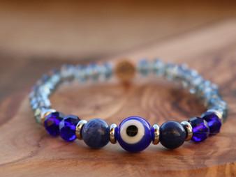 Stay Protected - Sodalite Blue Evil Eye Bracelet