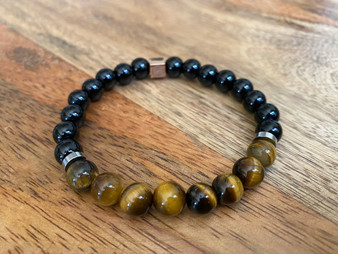 Goal Setter - Onyx and Tiger Eye Bracelet