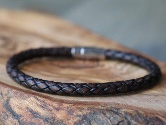 Essential Dark Brown Leather Bracelet