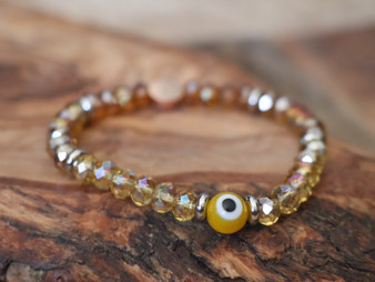 Yellow Evil Eye Bracelet - Ojitos  Collection