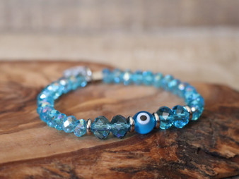 Light Blue Evil Eye Bracelet - Ojitos Collection