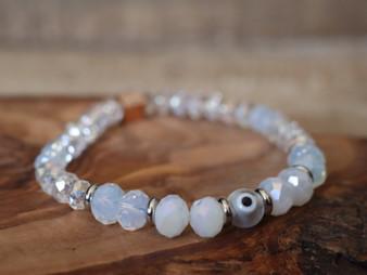 Snow White Evil Eye Bracelet- Ojitos Collection
