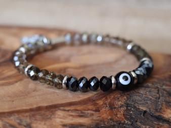Black Evil Eye Bracelet- Ojitos Collection