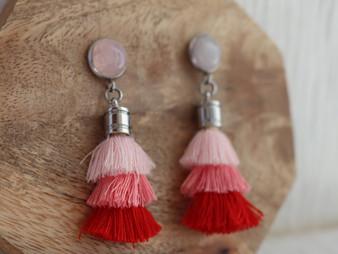 LOVE ME Love Me Tassel Earrings
