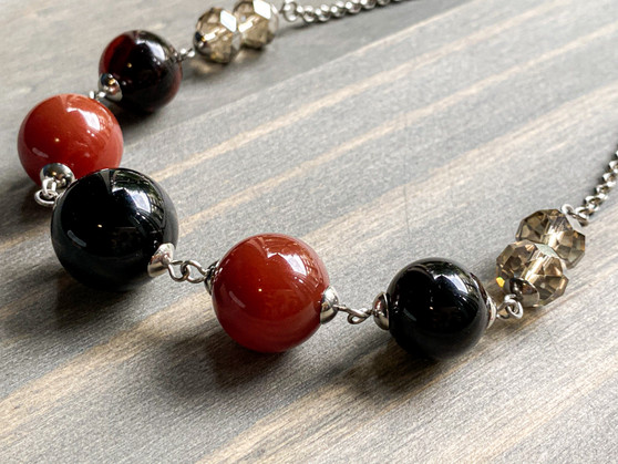 Yes, I Can - Onyx Necklace