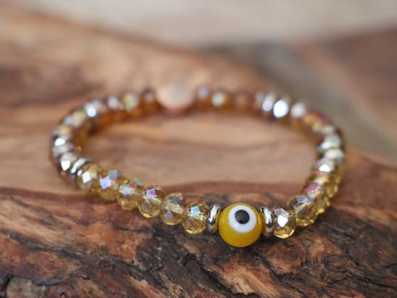 Yellow Evil Eye Bracelet - Ojitos  Collection