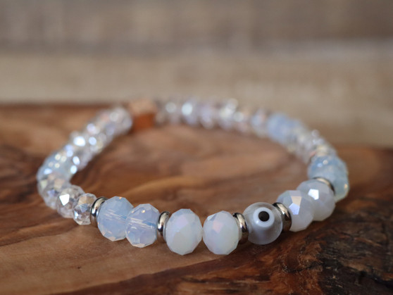Snow White Evil Eye Bracelet- Ojitos Collection