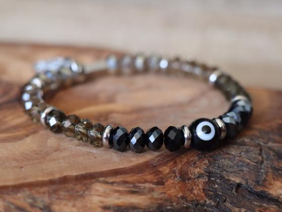 Black Evil Eye Bracelet- Ojitos Collection