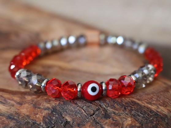 Red Evil Eye Bracelet - Ojitos Collection