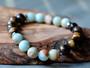 So Relaxed -  Aquamarine & Tiger Eye Bracelet