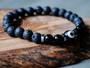 Good Vibes - Black Evil Eye, Onyx & Lava Stone Bracelet