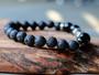 Rise and Grind - Dumbbell, Black Onyx & Lava Stone Bracelet