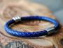 Trio Royal Bluel Leather Bracelet