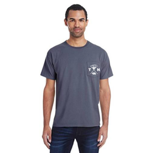 Pocket Tee Anchor Slate Front