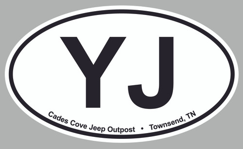 """3"""" x 4"""" Oval Decal"""