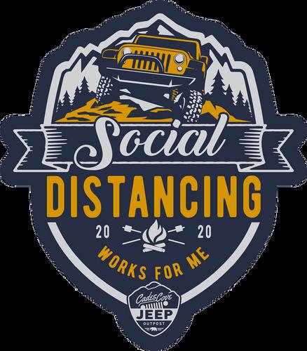 "Social Distancing Decal 3""x2.5"""