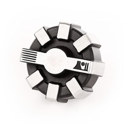 Elite Aluminum Fuel Cap Brushed 01-18 TJ/LJ/JK/JKU