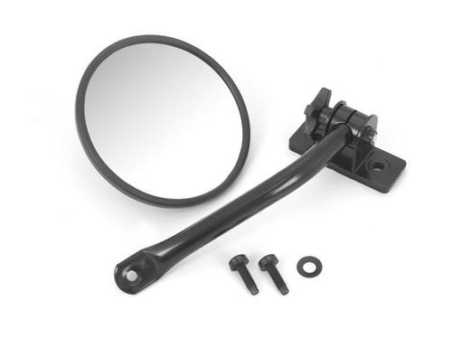 Quick Release Mirror Kit Round Textured Black 97-18 TJ/JK
