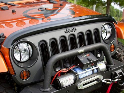 Hood Bug Deflector Wraparound Smoke 07-18 JK