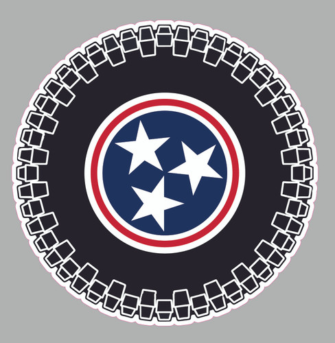 TN State Tire Decal