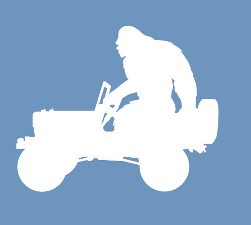 Bigfoot Jeep Silhouette Decal