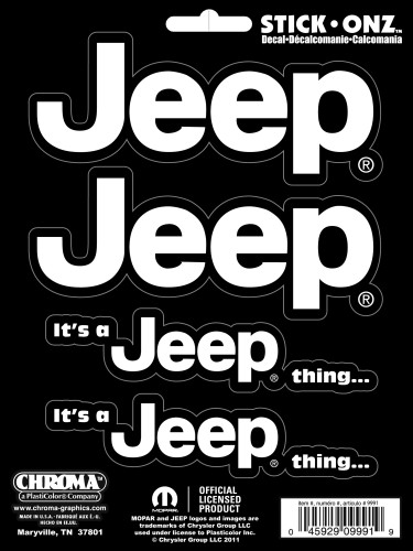 It's a Jeep Thing Stick Onz Decal