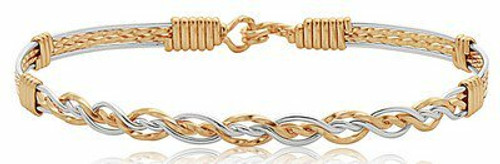 Unconditional Bracelet - 14K Gold Artist Wire and Sterling Silver