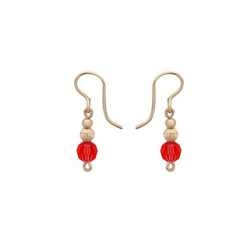 Courage Drop Earrings - 14K Gold Artist Wire