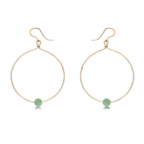 Breathe Earrings - 14K Gold Artist Wire with Aventurine