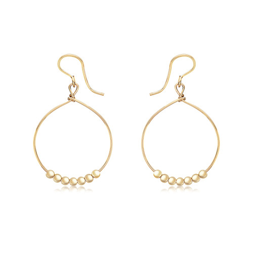 Power of Prayer Hoop Earrings  - 14K Gold Artist Wire