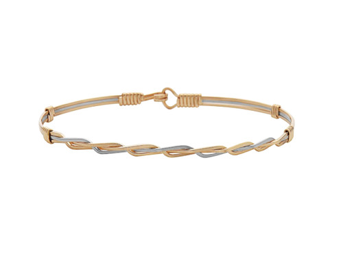 Lets Celebrate Bracelet - 14K Gold Artist Wire and Sterling Silver