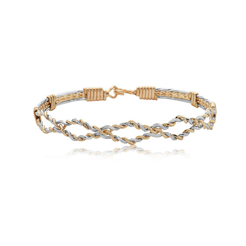 Hope You Dance Bracelet - 14K Gold Artist Wire and Mirror Silver
