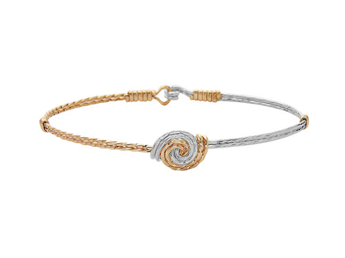 FRIENDS Bracelet - 14K Gold Artist Wire and Sterling Silver