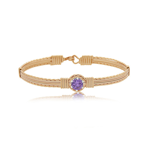 Shining Star Bracelet - 14K Gold Artist Wire (February Stone)