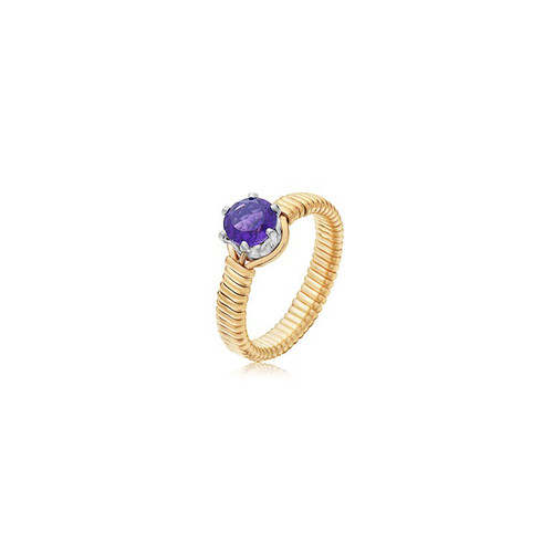 Shining Star Ring  - 14K Gold Artist Wire (February Stone)