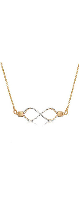 Infinity Necklace - 14K Gold Artist Wire and Sterling Silver