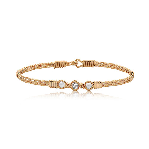 Desirable Bracelet - All 14K Gold Artist Wire (Featuring Diamond)