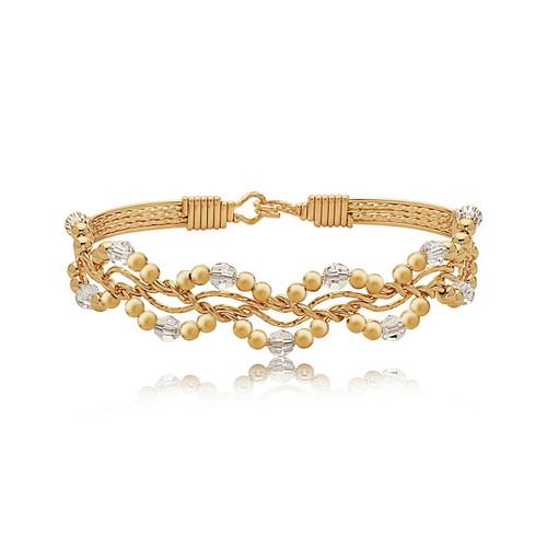 Forget Me Not Bracelet - 14K Gold Artist Wire - April Birthstone