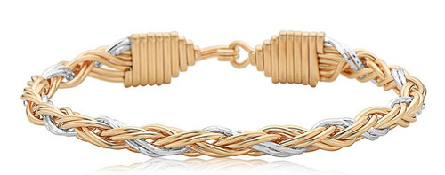 Gratitude Bracelet - 14K Gold Artist Wire & Silver