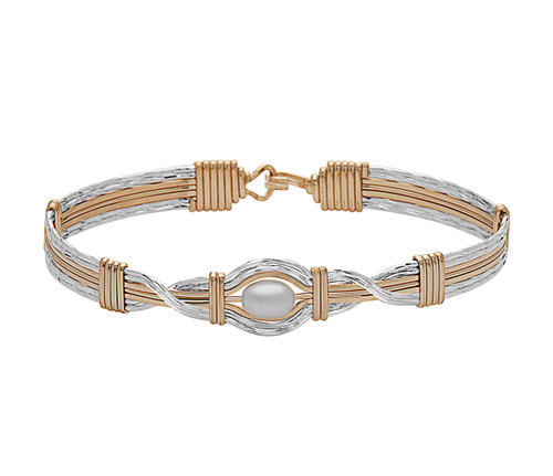 Hold Me Bracelet (Wide) - 14K Gold Artist Wire and Silver