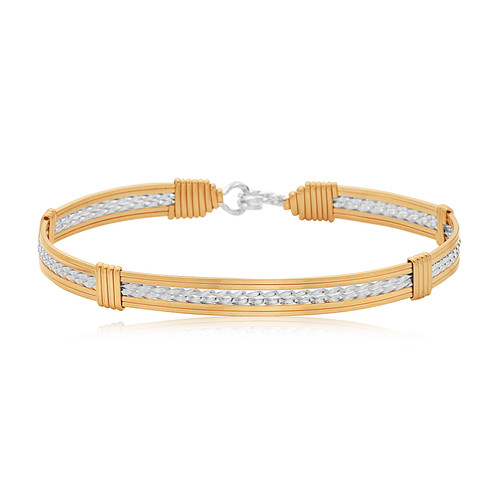 Inspirational Bracelet (6 Strand) -  Outer 14K Gold Artist Wire with Silver Inner Wires