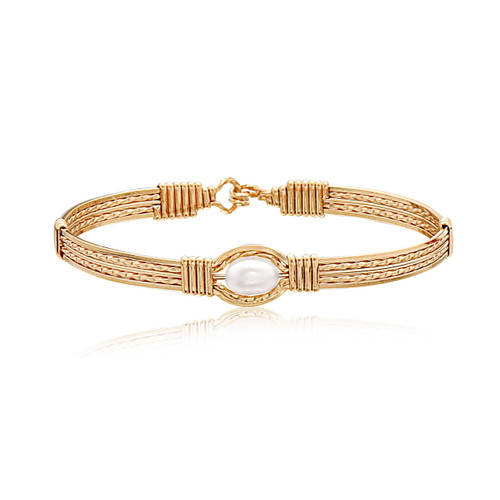 Pearl of My Heart Bracelet (Wide) - 14K Gold Artist Wire