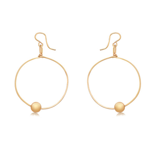 You Are Chosen Hoop Earrings - 14K Gold Artist Wire