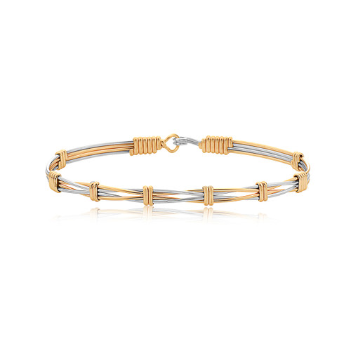Rise Above Bracelet - 14K Gold Artist Wire and Silver