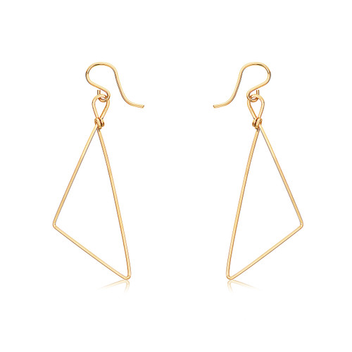 Triumph Earrings - 14K Gold Artist Wire