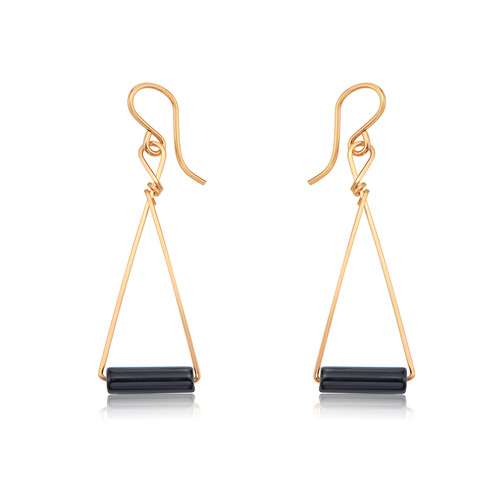 Color Your World Earrings - Black Onyx