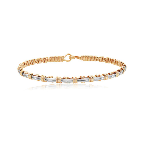 Now and Forever Bracelet - 14K Gold Artist Wire and Silver