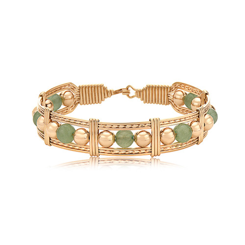Dream in Color Bracelet - 14K Gold Artist Wire and Aventurine