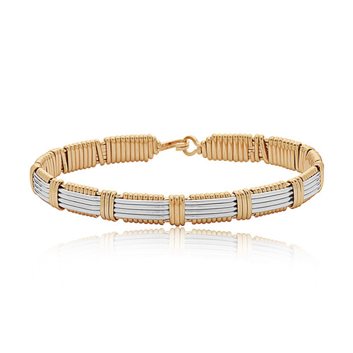 Adore Bracelet - 14K Gold Artist Wire & Silver