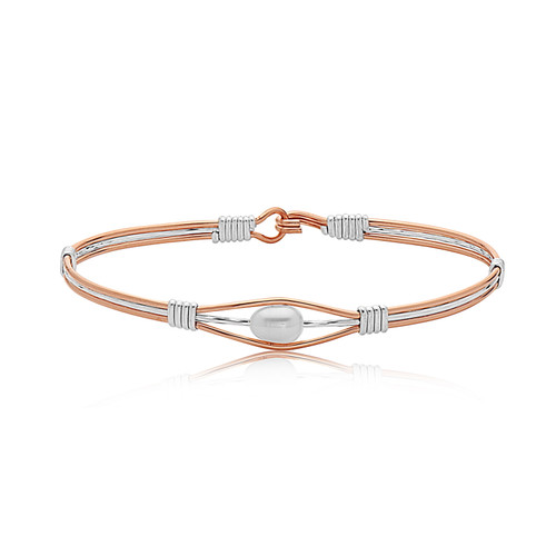 Angel of Hope Bracelet - Outer Rose Gold with Silver Center & Silver Wraps